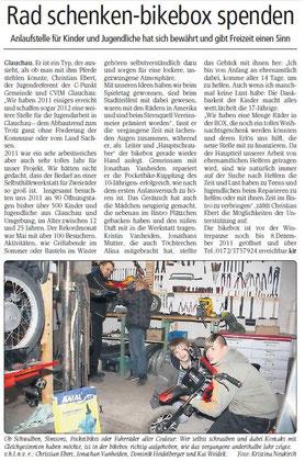 Artikel aus dem Wochenspiegel vom 03.12.2011