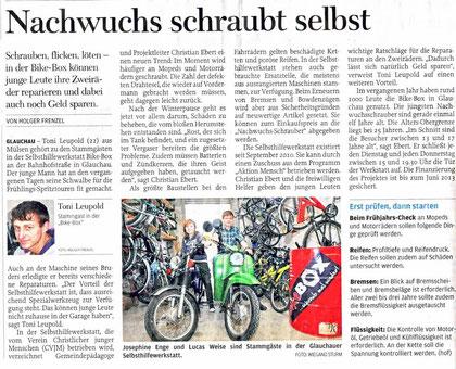 Artikel aus der Freien Presse vom 28.03.2012