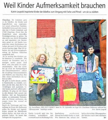 Presseartikel aus dem Wochenspiegel August 2012