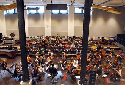 Das Jugendsinfonieorchester Aachen während einer Probe im Probenraum des Sinfonieorchester Aachen Foto: Sandra Borchers