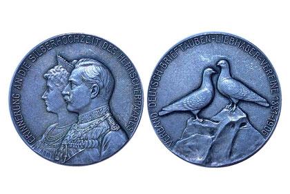 Medaille des Verbandes zur Silberhochzeit des Kaiserpaares in Silber