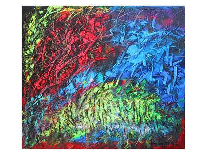 The origin   Acrylic on canvas  80x70 cm  2007