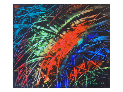 In the light the time  Acrylic on canvas  80x70 cm  2007
