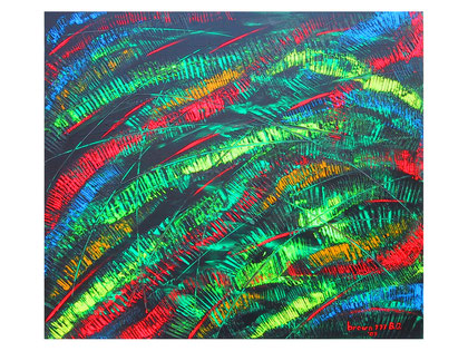 Rhythm   Acrylic on canvas  80x70 cm 2007
