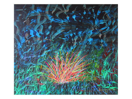 Night over the light - (private collection)-  Acrylic on canvas 80x70 cm  2007