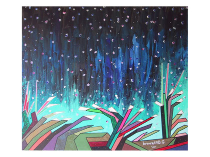 It's snowing on my dreams   Acrylic on canvas 80x70 cm  2007