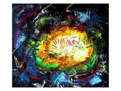 Universal vibrations -( private collection)- Acrylic on canvas 80x70 cm  2007