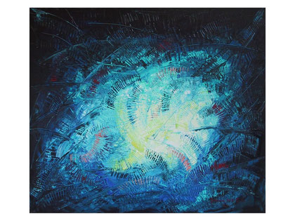 In the blue of the emotions  Acrylic on canvas 80x70 cm 2007