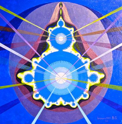 Fourth dimension  Acrylic on canvas 80x80   2013
