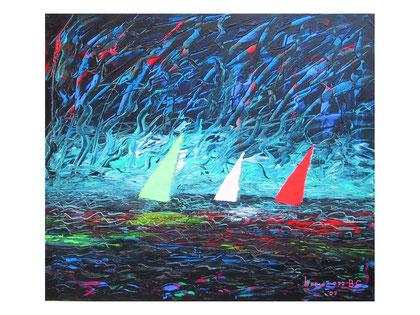 Sails   Acrylic on canvas  80x70 cm  2007