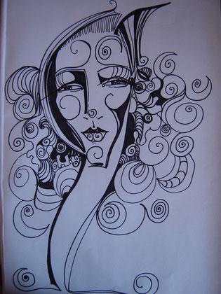 A3 Zeichnung / Femme