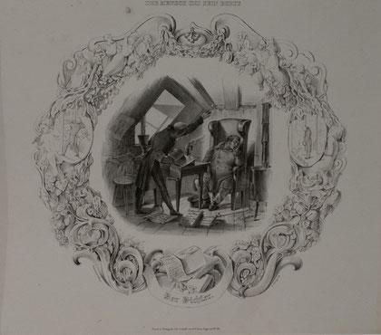 B-37   D e r  D i c h t e r, Kreidelithografie von B. E d i n g e r , nach einer Zeichnung von S c h m u t z e r = 290,-- EUR
