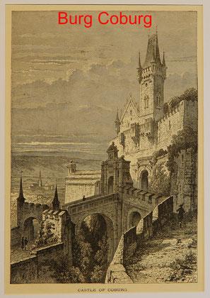 C 96A - Coburg Castle, Hst. 1887 -24,5x17 (15x22,5) = 28 EUR