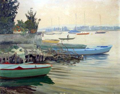 Bilderbörse; Orig. Gemälde von Holl François