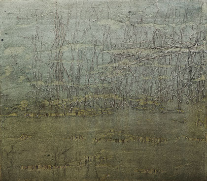 o. T., Mischtechnik auf Leinwand 2016,  35x40