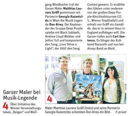 Artikel in NÖN Horn, Woche 15. Copyright by Martin Kalchhauser