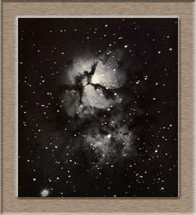 M 20 Trifidnebula Aufnahme vom 6. 7. 1899 mit dem Crossley Reflektor