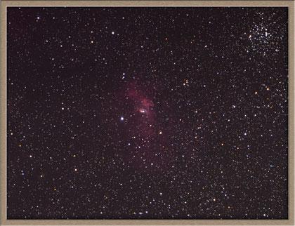 NGC 7635 Bubble- Crop - NGC 7635 - Blasen-Nebel - Bildausschnitt MeixnerObservatorium