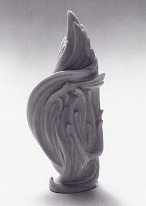 ÄOLSHARFE 1992, Steinguss (Marmor), Höhe 38 cm