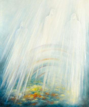 DIE SONNE TÖNT NACH ALTER WEISE 2005, Öl auf Leinwand, 100 cm x 120 cm