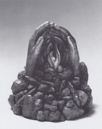 GEBORGEN 1991, Bronze, Höhe 36 cm