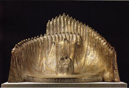 FÜRCHTET EUCH NICHT - SIEHE - ICH VERKÜNDE EUCH GROSSE FREUDE 1976, Bronze, Höhe 58 cm