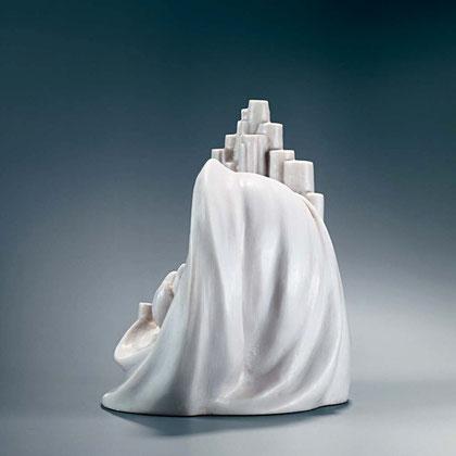 GLAUBE - HOFFNUNG - LIEBE, 2003, Steinguss (Marmor), Höhe 27 cm