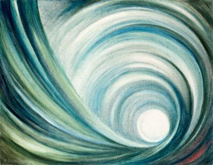 GEZEITEN 1976, Öl auf Leinwand, 85 x 65 cm