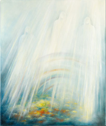 TRIPTYCHON (Nach Goethe, Faust I, Prolog im Himmel) 2005, Öl auf Leinwand, 100 cm x 120 cm