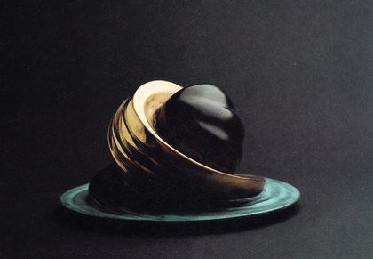YIN UND YANG 1995, Bronze, Höhe 15 cm