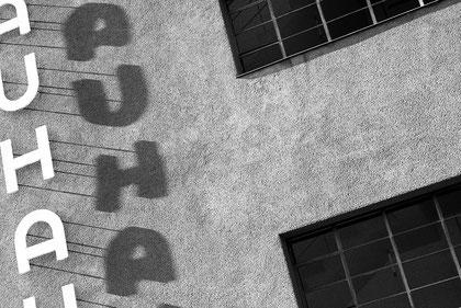 Schriftzug Bauhaus Dessau Südwestecke © Dr. Ralph Fischer