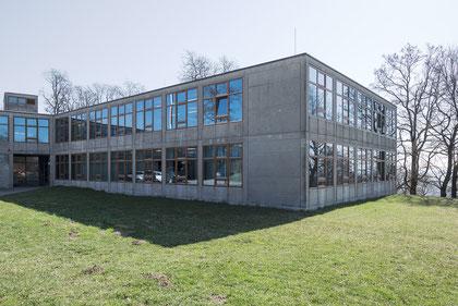 HfG Ulm Fassade obere Ebene © Ralph Fischer
