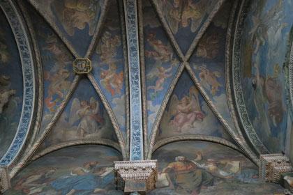 Bild: Decke im Seitenschiff Notre Dame des Doms, Avignon