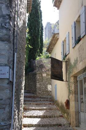 Bild: Aufgang zum Schloss Barroux