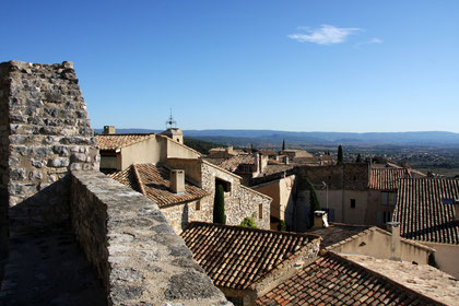 Bild: Blick auf das Unterdorf von Le Barroux