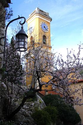 Bild: Kirchturm der Èglise Notre-Dame de l´Assomption in Èze