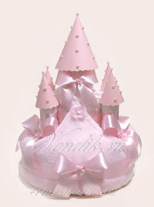 Замок из памперсов  для маленькой Принцессы