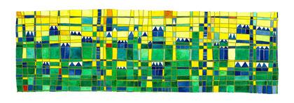 Murallas-Encaústica al agua-18x48 cm.