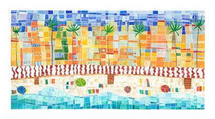 Zapillo en verano-Encaústica al agua-35x63 cm.