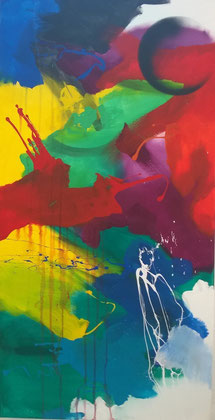 100 x 50 cm , 2014 , Acryl auf Leinwand