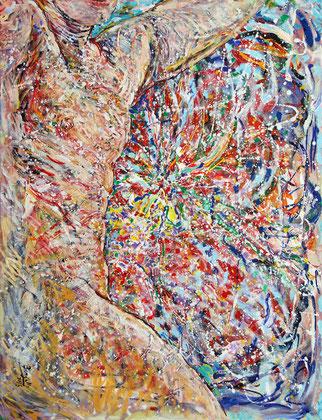 La Voûte Céleste, acrylique sur toile, 120 x 100 cm, 2015