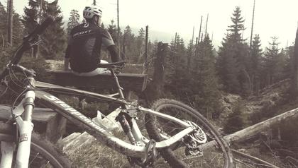 ...schöne Mountainbike Tour mit Blick zum Brocken