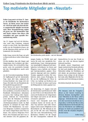 Pfarreiblatt August 2020