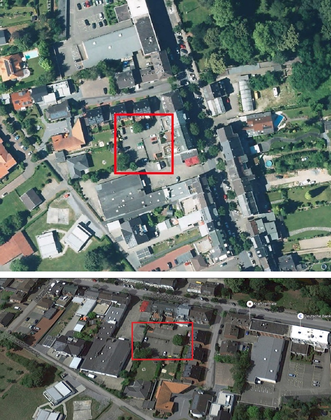 Parkplätze Bahnhofstrasse Vogelperspektive