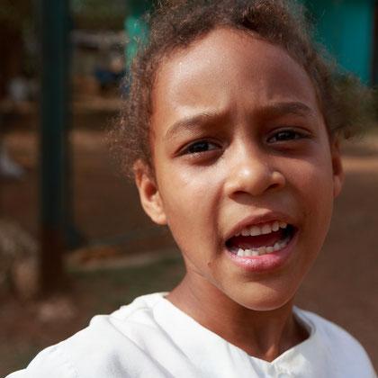 Kubanisches Schulmädchen