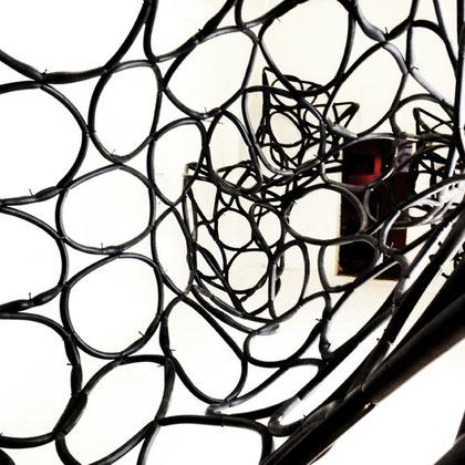 Loop, 2012, Fahrradschläuche, Installation