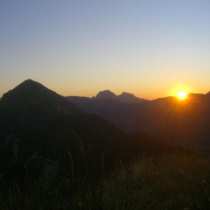 Sonnenaufgang auf der Toralp