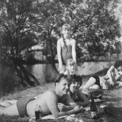 beim schwimmen an der Thaya