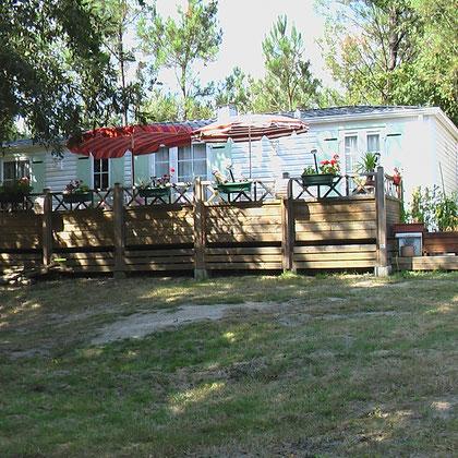 Mobilhome Luxe 2 chambres appartenant à un résident, situé au bord de l'étang (emp n°6)