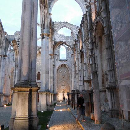 Die Ruine von Innen